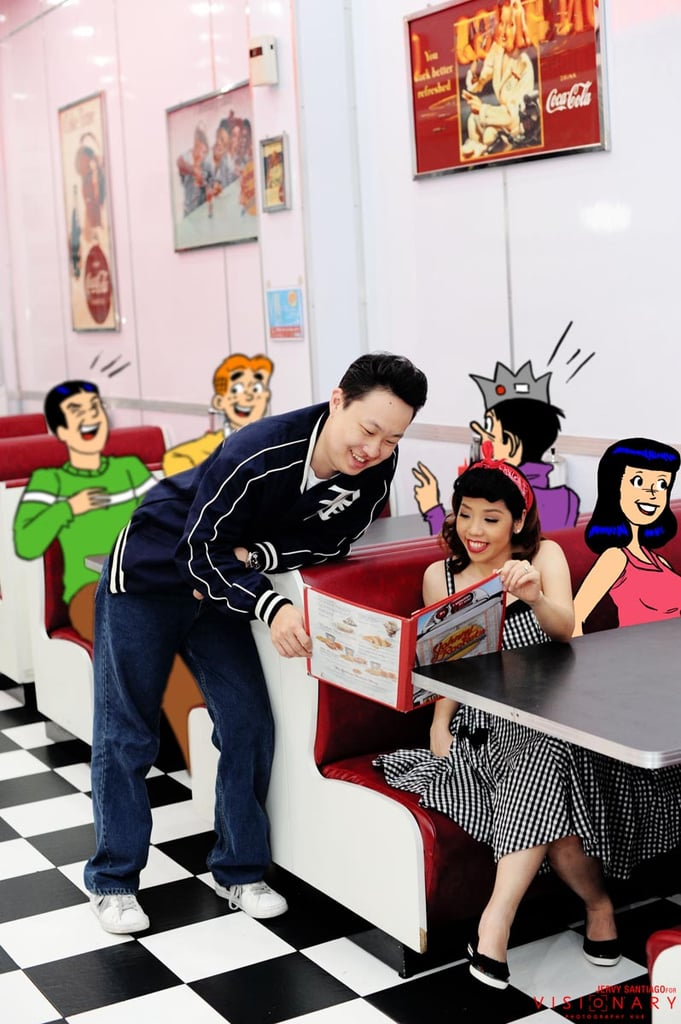 Animated love at the malt shop. Photo: Jervy Santiago