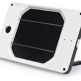 Joos Orange Solar-Powered Charger For iPhone, iPad, Kindle, and More