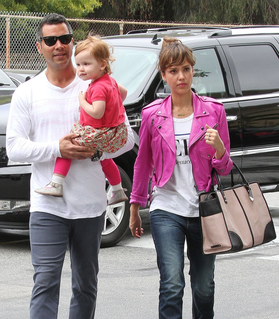 Jessica Alba went with her husband, Cash Warren, and daughter Haven to see daughter Honor's ballet recital in LA.