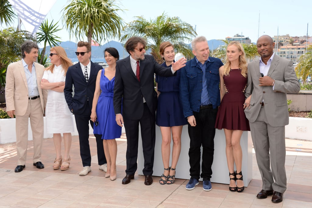 Jury members Alexander Payne, Raoul Peck, Diane Kruger, Jean-Paul Gaultier, Emmanuelle Devos, Nanni Moretti, Hiam Abbass, Ewan McGregor, and Andrea Arnold assmbled for the jury photo call during the 65th Annual Cannes Film Festival.