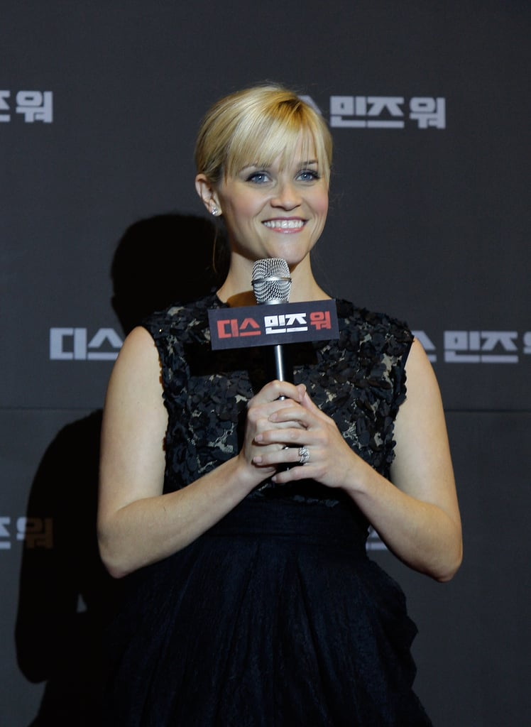 Reese Witherspoon spoke at the Seoul premiere for This Means War.