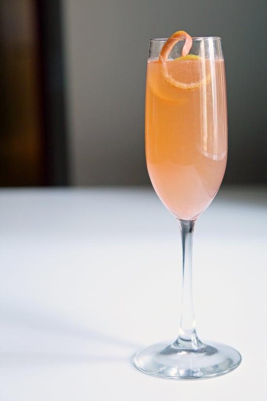 Grapefruit St. Germain Champagne Cocktail