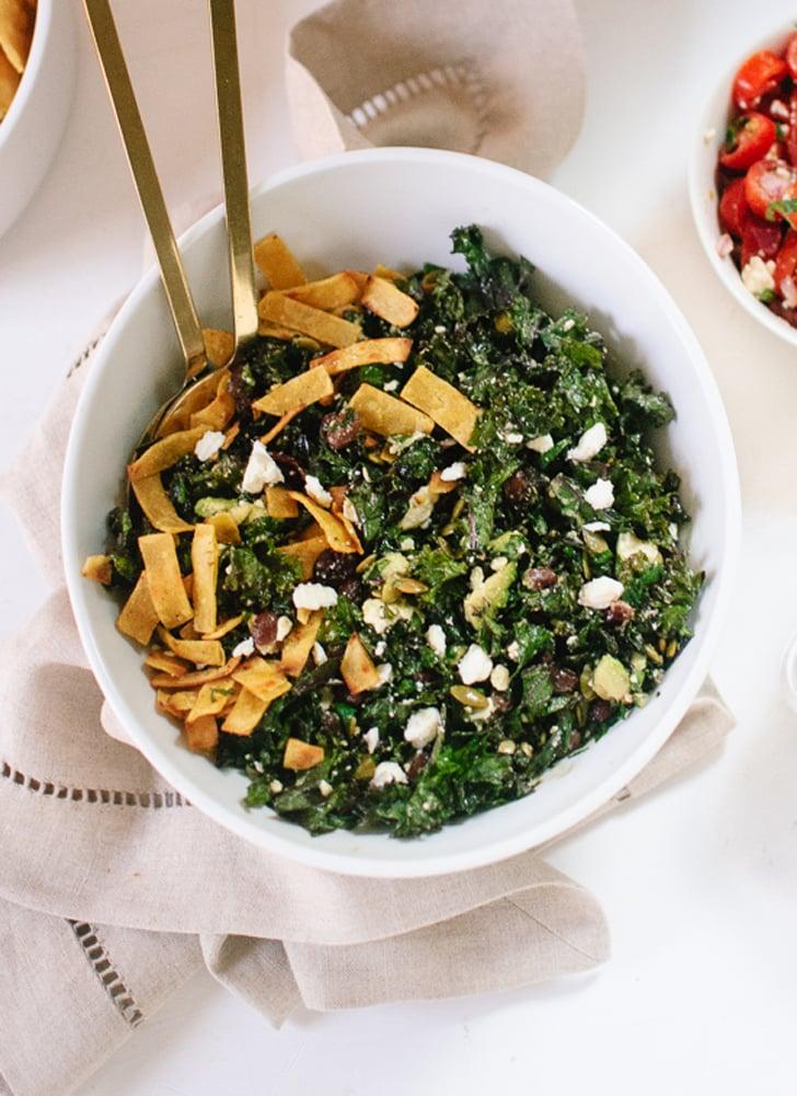 Kale Salad With Feta, Avocado, and Crispy Tortilla Strips