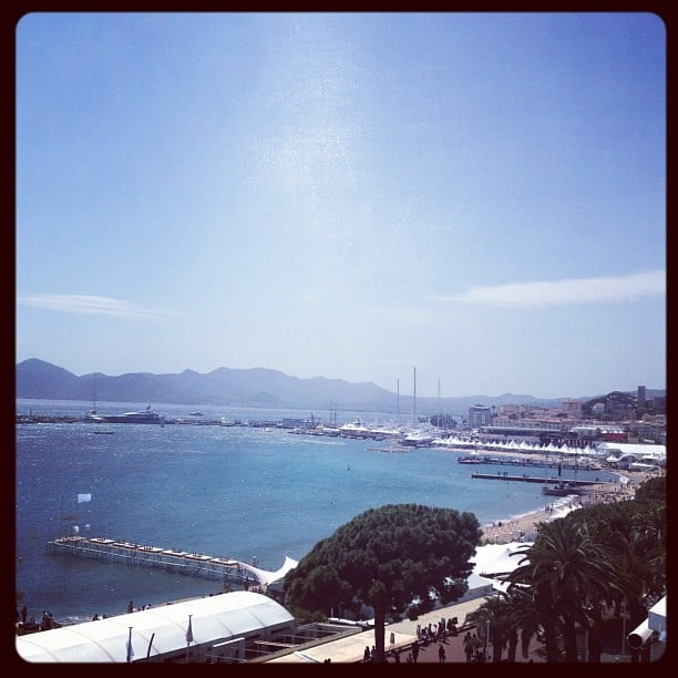 Nikki Beach from the JW Marriott hotel offered stellar views of the South of France.