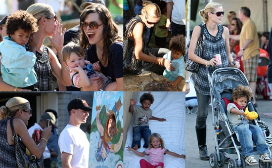 Photos of Heidi Klum, Leni Klum, Henry Samuel, Johan Samuel, Milla Jovovich, Ever Anderson at the Calabasas Pumpkin Festival
