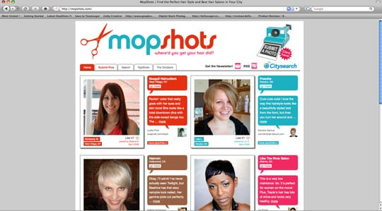 Find Out Where People Get Their Hair Done on MopShots.com