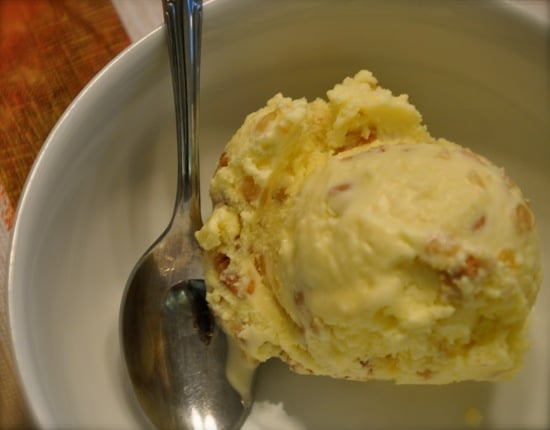 Olive Oil Pine Nut Ice Cream