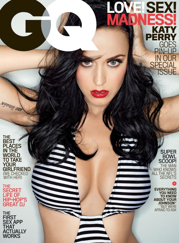 Katy's cleavage was front and center on the cover of GQ in February 2014.