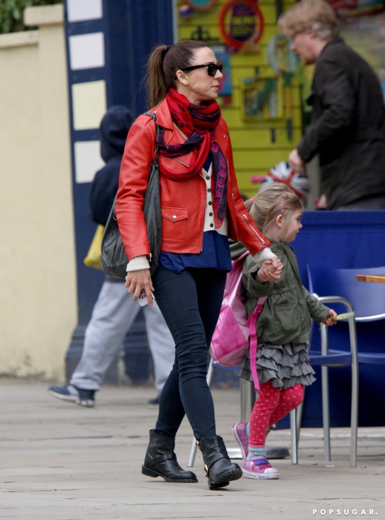 Former Spice Girl Mel C took her daughter, Scarlet Chrisholm, for a Sunday shopping trip in London.