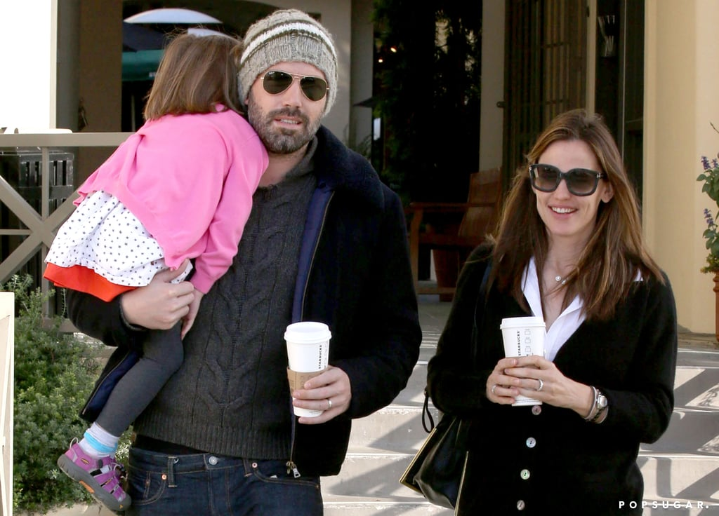 Ben Affleck and Jennifer Garner made a coffee run with their daughter Seraphina.