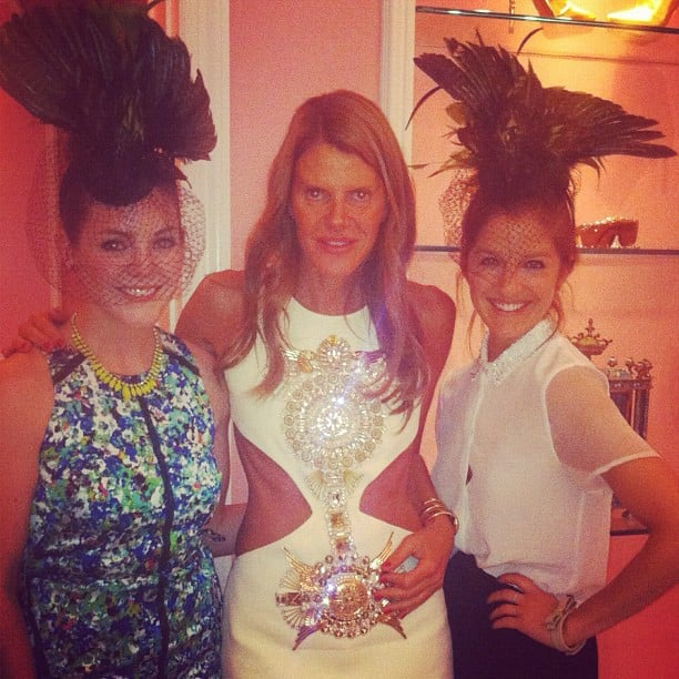 FabSugar TV's Allison McNamara and Liza Kaplan kicked it in fascinators with Anna Dello Russo during Fashion's Night Out.
