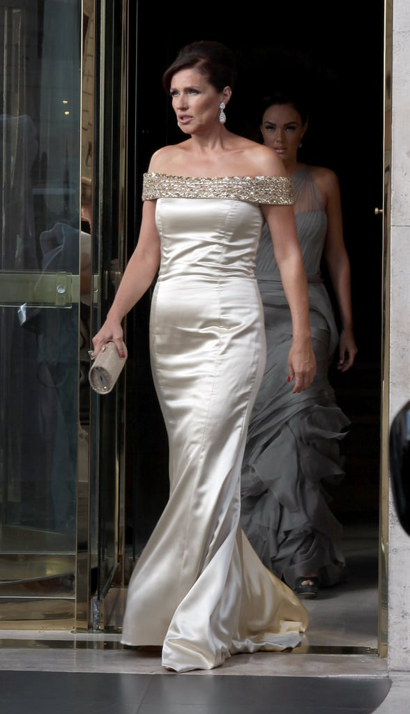 The bride's mother, Slavica, chose a champagne dress for the special occasion.