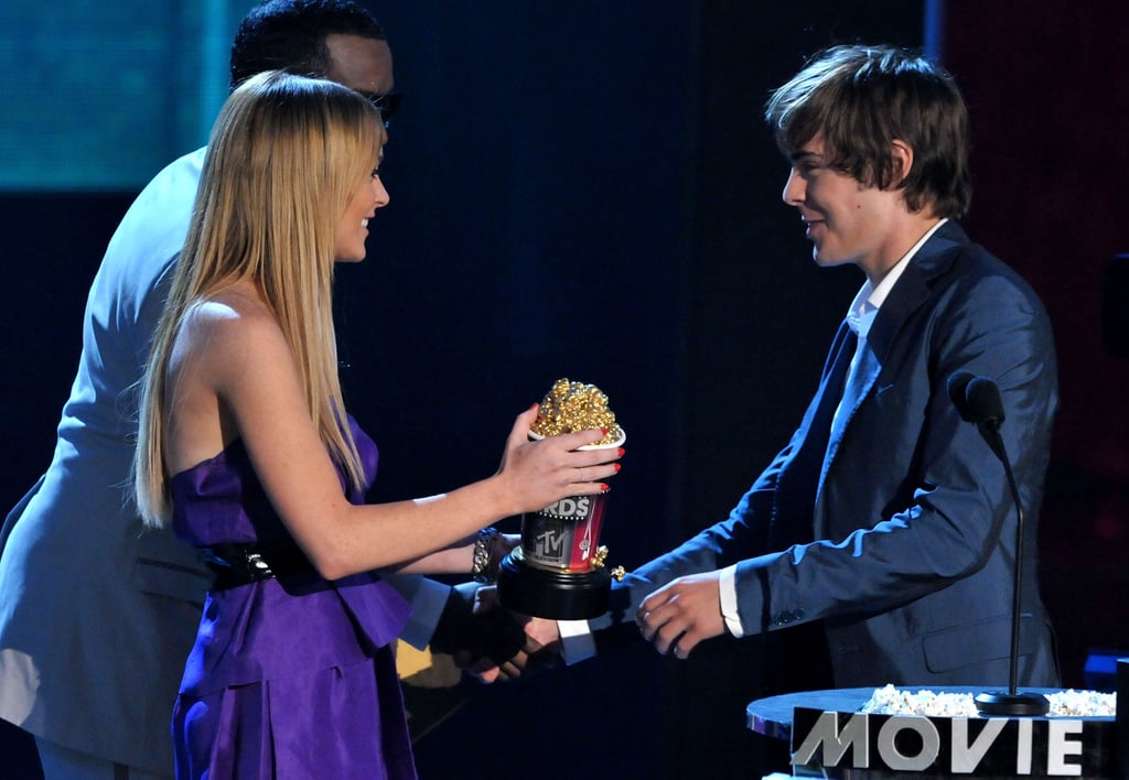 In 2008, he accepted his popcorn from Lindsay Lohan.