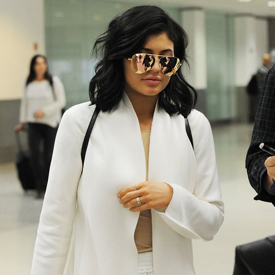 Kylie Jenner Wearing White at the Airport