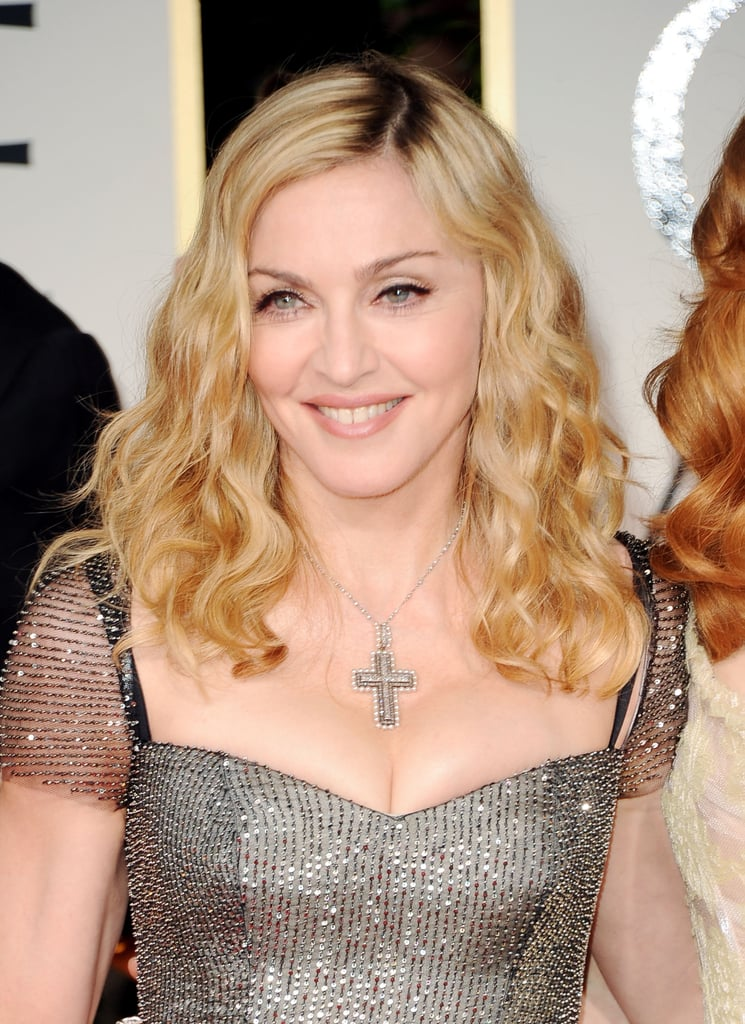 Madonna in Reem Acra at the Golden Globe Awards.