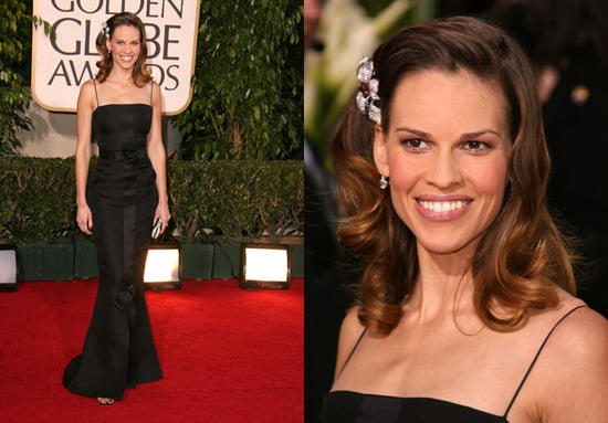 The Golden Globes Red Carpet: Hilary Swank