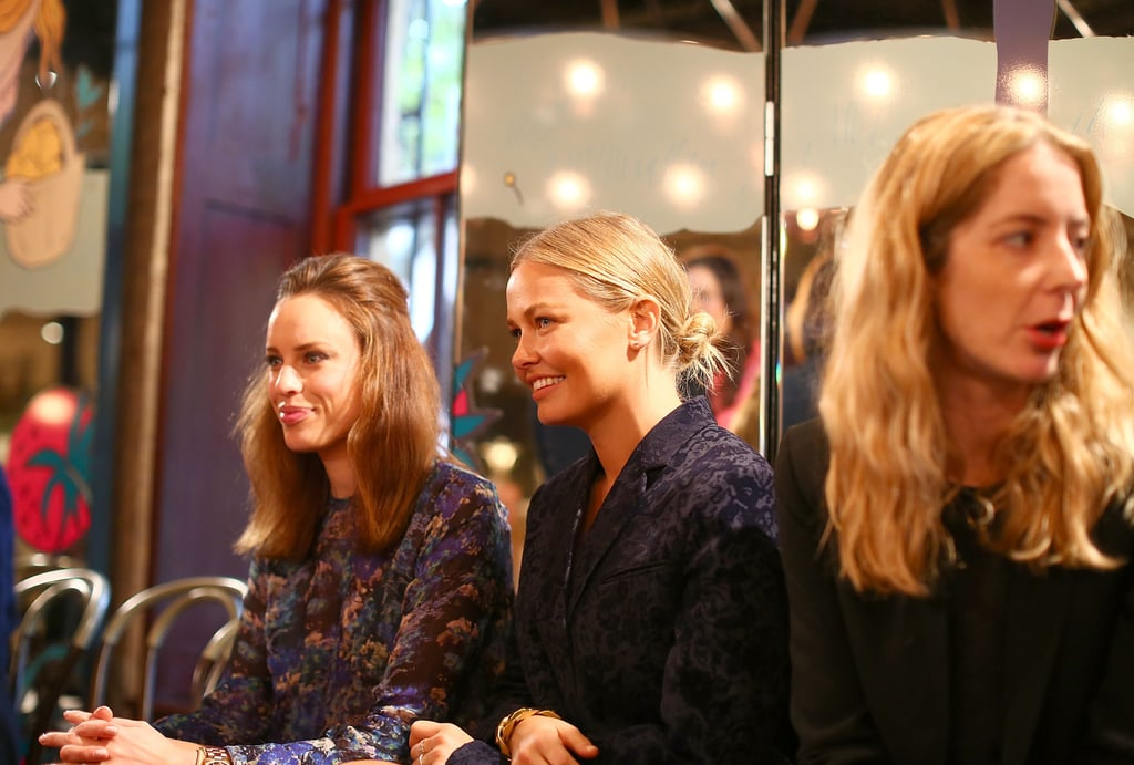 Jessica McNamee and Lara Bingle were front row seat buddies at Rebecca Vallance's Spring/Summer 2013 season launch in Sydney.