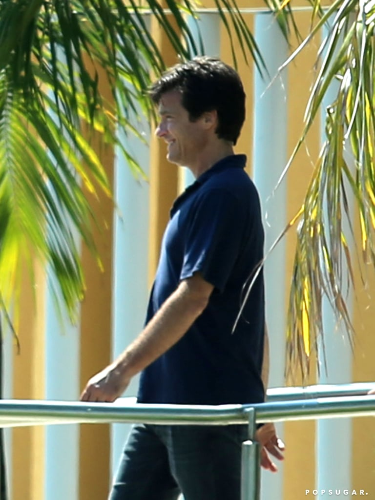 Jennifer Aniston's Horrible Bosses costar Jason Bateman was all smiles when the group arrived in Mexico.