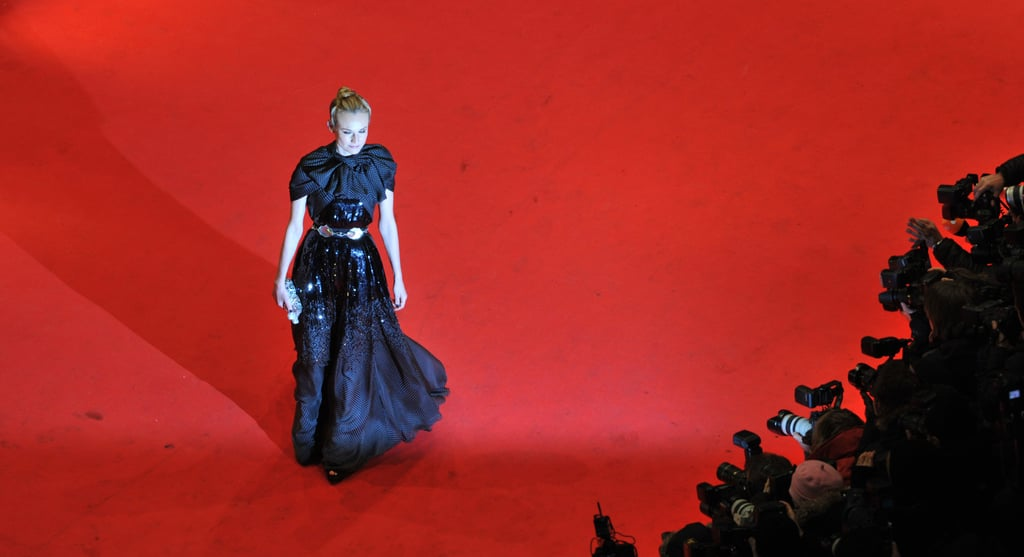 Diane Kruger hit the red carpet solo prior to the Berlin Film Festival premiere of her historical piece.