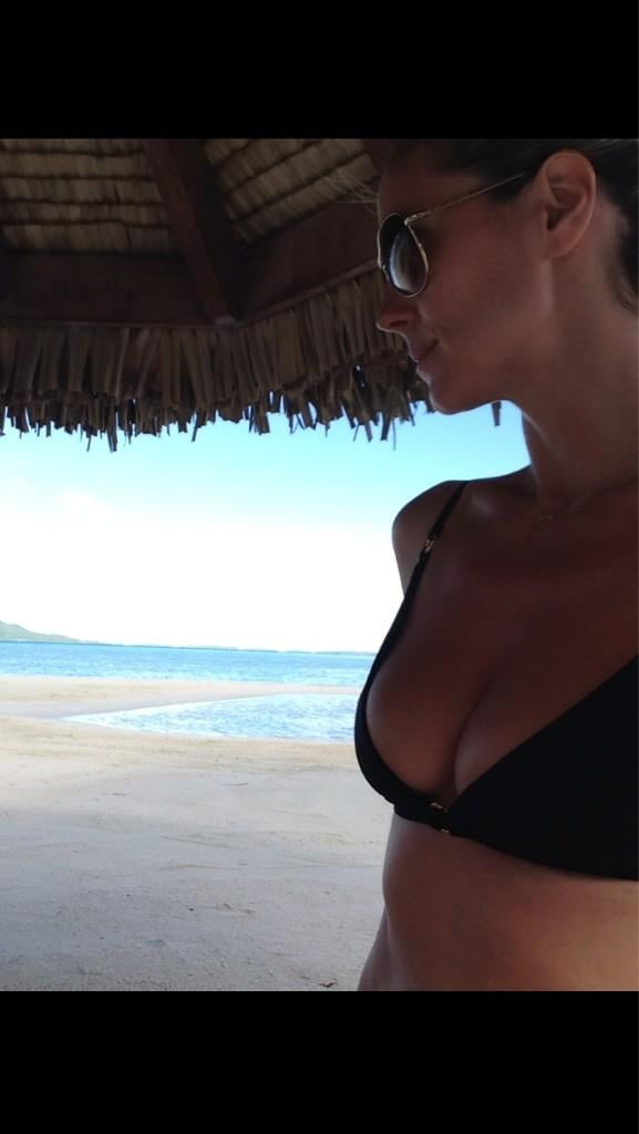 Heidi Klum tweeted snaps of her bikini-filled vacation in December 2012. Source: Twitter user heidiklum