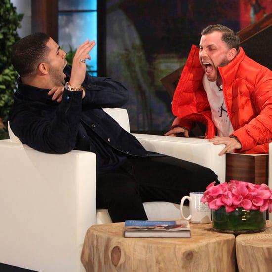 Drake Gets Scared on The Ellen DeGeneres Show | Video