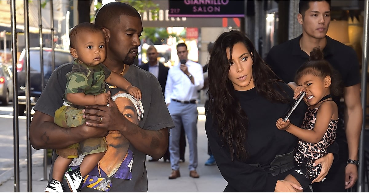 Kim Kardashian and Kanye West Have a Fashionable Outing With North and Saint After the VMAs