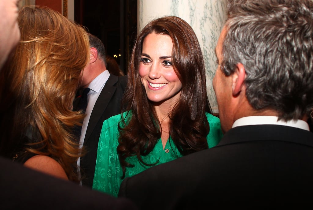 Kate Middleton chatted with guests at last year's pre-Jubilee reception.