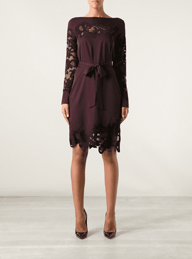 The lace detailing and rich Fall hue make this