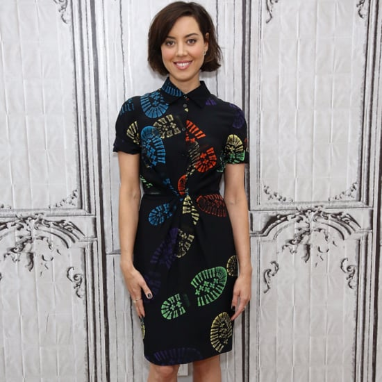 Aubrey Plaza's Moschino Shoe-Print Dress