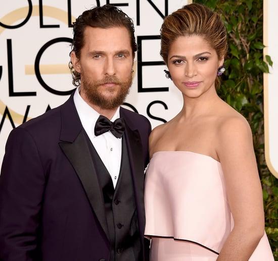 Matthew McConaughey Rocks Scruffy Beard, Camila Alves Debuts Blonder Locks at 2015 Golden Globes: Photo