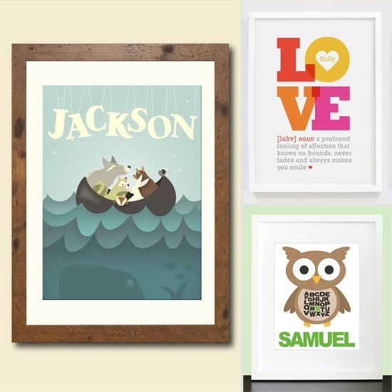 Etsy Finds! 8 Personalized Artworks For Kid Rooms