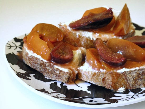 Roasted Apricots and Fig Tartines