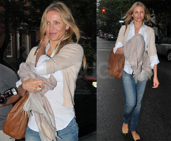 Photos of Cameron Diaz Walking Around in NYC, Talking About My Sister's Keeper
