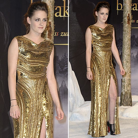 Kristen Stewart Goes For Gold — and Shows Her Stems — in Berlin