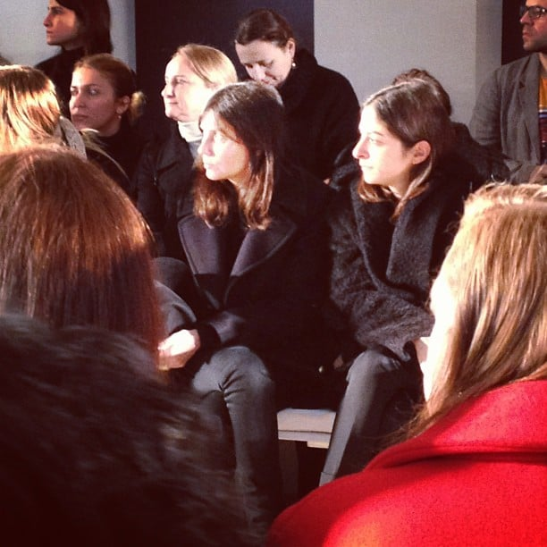 We spied French Vogue editor Emmanuelle Alt at the Belstaff show.