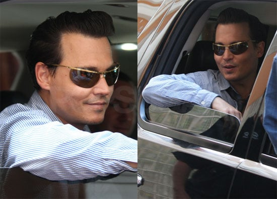 Photos of Johnny Depp On the Set of The Rum Diary in Puerto Rico