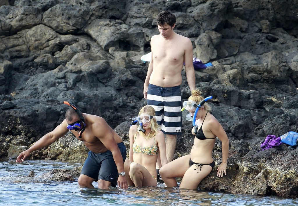 The group of four snorkeled in Maui.