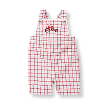 Janie and Jack Tricycle Plaid Shortalls