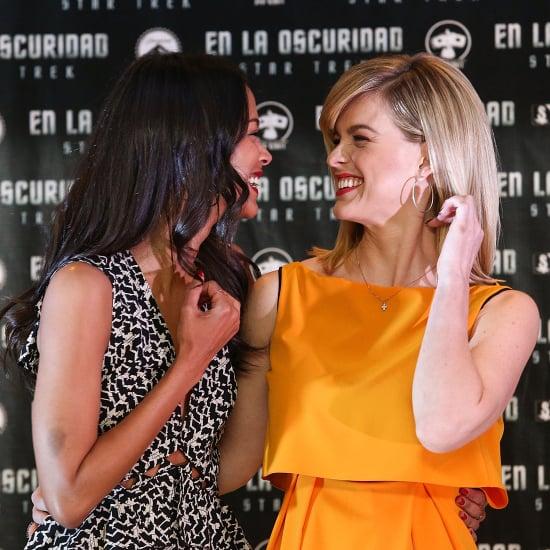 Zoe Saldana and Alice Eve Star Trek Beauty Photos