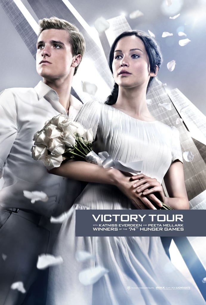 Katniss and Peeta get a close-up in another Victory Tour poster.