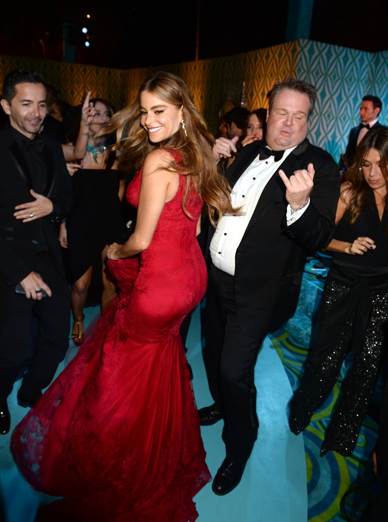 Sofia Vergara and Eric Stonestreet busted a move at the HBO party.