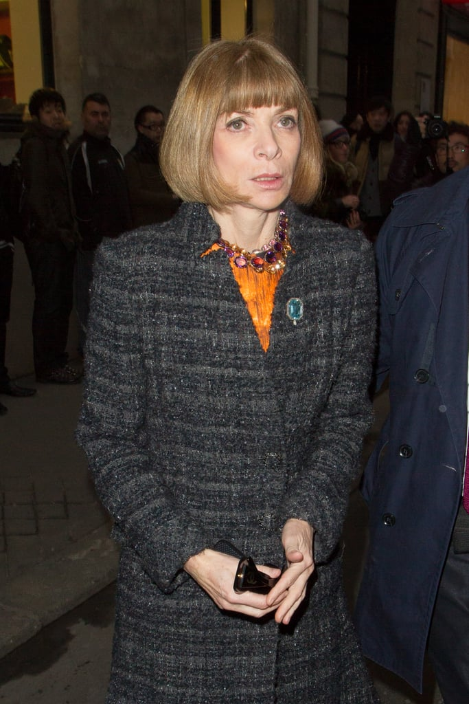 Anna Wintour arrived at the Rochas show in Paris in February.