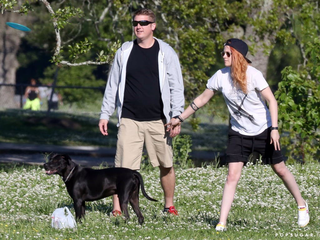 Kristen Stewart Celebrates Her Birthday With Beer and Frisbee