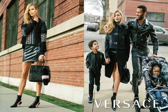 Versace's New Ads Show Gigi Hadid in an Interracial Family & It's Causing Controversy
