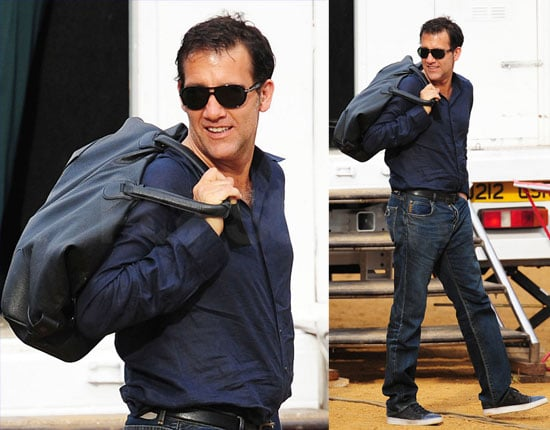Clive Owen Does Take-Your-Daughter-to-Work Day on the Set of Intruders