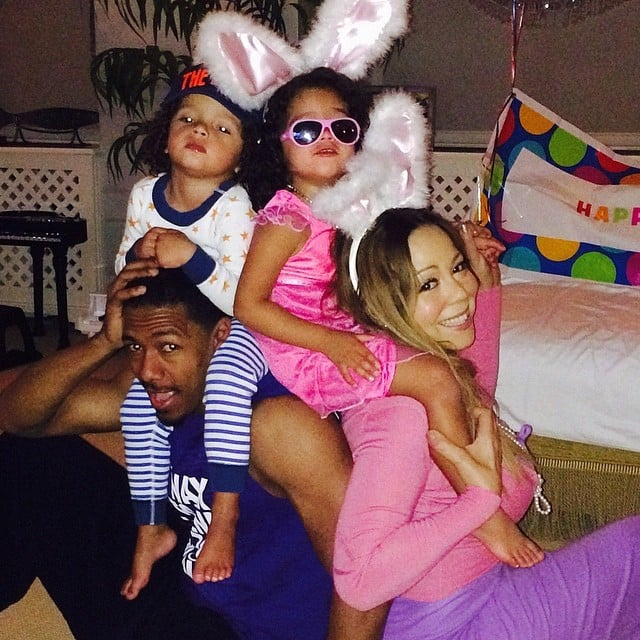 Mariah Carey celebrated Easter with her entire crew — Monroe, Moroccan, and Nick Cannon. Source: Instagram user mariahcarey