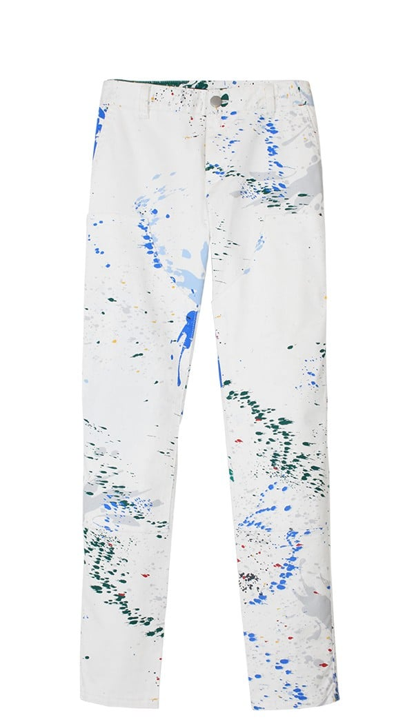 Thanks to the street style set last Fashion Week, all I wanted was Tibi's paint-splattered full skirt — enter these splatter carpenter pants ($295), and I'm convinced that the only pieces I need for the coolest Winter outfit (Fashion Week or otherwise) are a slouchy sweater and my favorite ankle boots.  — HW