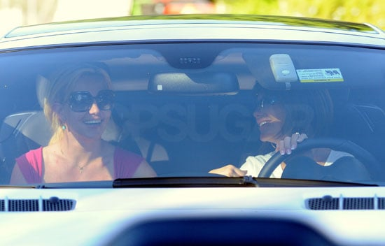 Photos of Britney Spears and Lynne Spears Driving Around Calabasas