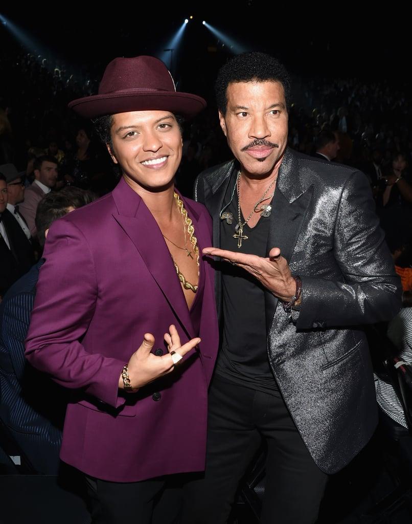 Pictured: Lionel Richie and Bruno Mars