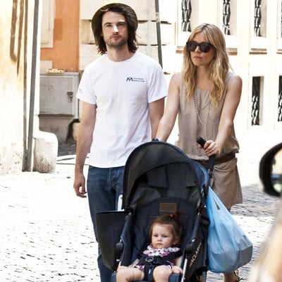 Sienna Miller and Tom Sturridge With Marlowe in Italy